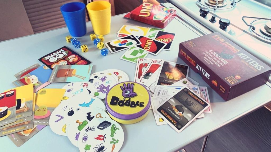 Don't forget to pack games for your next campervan trip